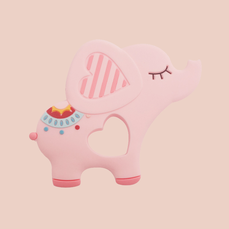 Legenday New Arrival Elephant Shape Soft Bpa Free Baby Teething Toys Food Grade Silicone Baby Teethers
