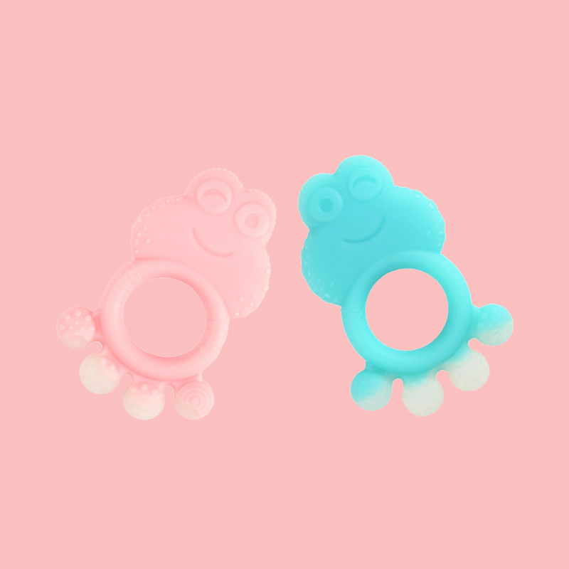Legenday Hot Sale Manufacturer Bpa Free Food Grade Teething Ring Toys Funny Silicone Baby Teether