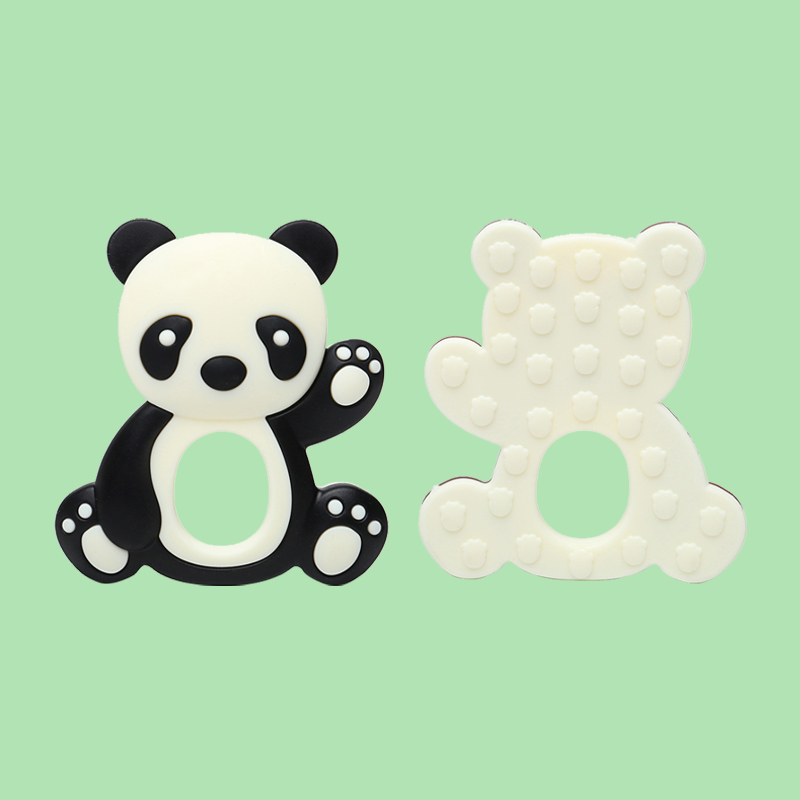 Legenday New Design Cartoon Teething Toys Pendant Colorful Soft Silicone Chew Animal Teether
