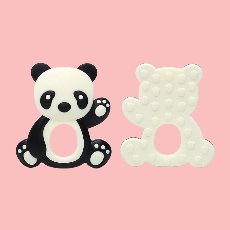 Legenday Colorful Bpa Free Baby Teething Chewing Toys Food Grade Silicone Panda Shape Teethers