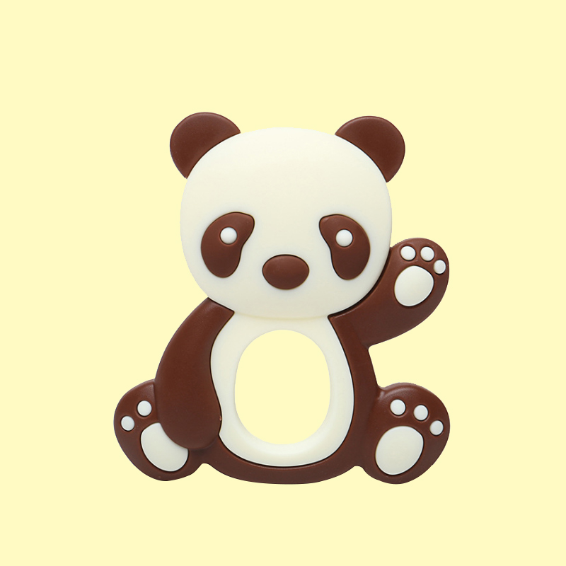 Legenday Chewable Non-Toxic Baby Teether Cartoons Panda Shape Food Grade Soft Silicone Baby Teething Toy