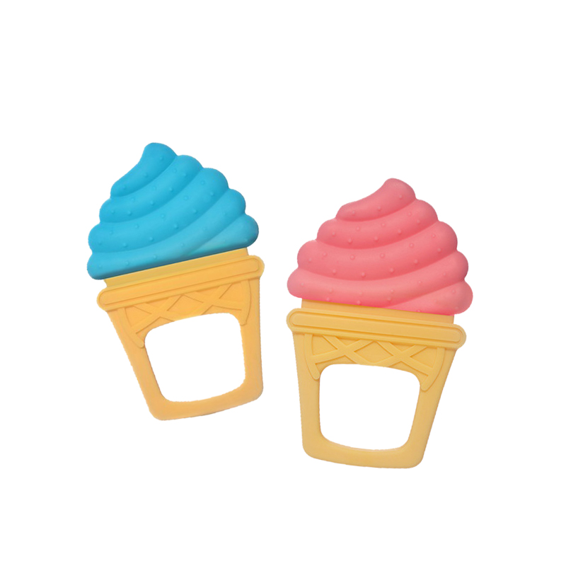 Legenday Free Sample Cute Ice Cream Design Bpa Free Silicone Baby Teether Teething Toys