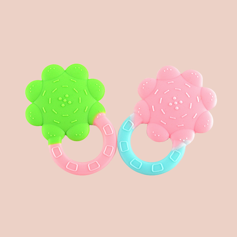 Legenday Food Grade Silicone Baby Flower Teethers Bpa Free Funny Infant Newborn Soft Chew Teething Toys
