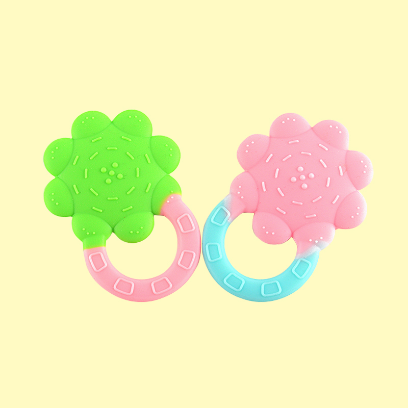 Legenday Wholesale Soft Bpa Free Silicone Flower Teether Sensory Chew Toys Baby Teething Toy