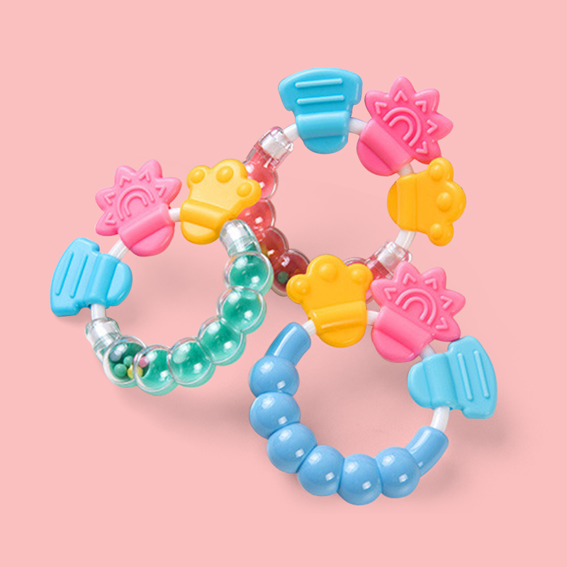 Legenday 2021 Amazon Silicone Baby Rattle Teether Ring Bpa Free Baby Rattles Teething Toys