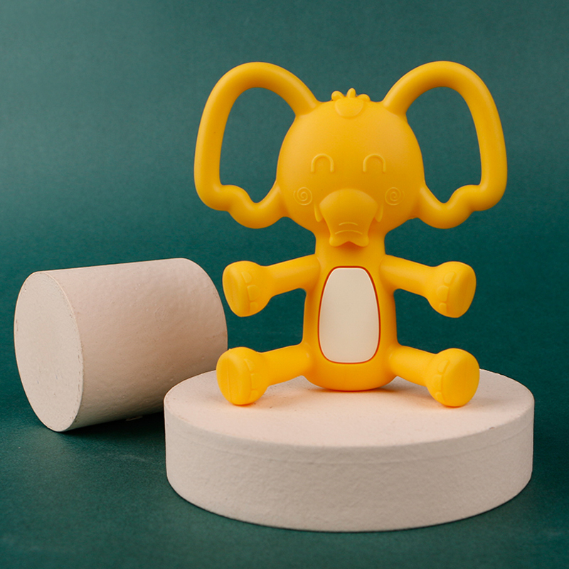 Legenday Hot Sale Food Grade Silicone Baby Elephant Teether Non-Toxic Baby Teething Chew Toys