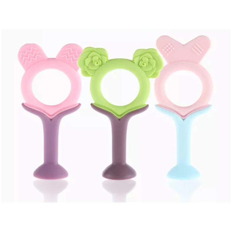 Legenday Hot Selling Custom Soft Silicone Chew Toy Teether Bpa-Free Baby Teether Soother Teething Toy