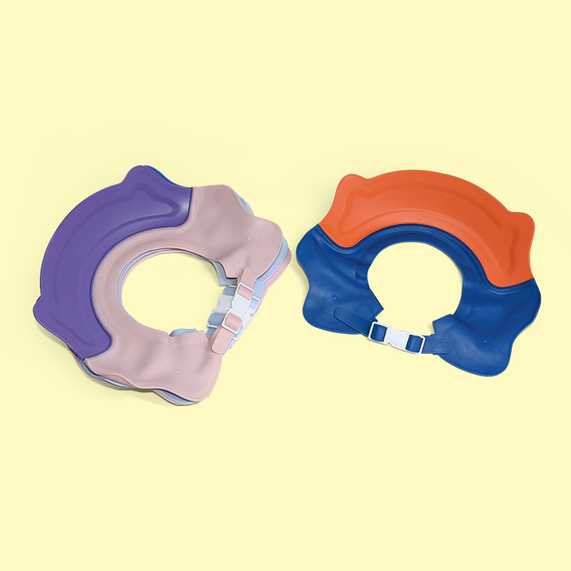 Legenday High Quality Safety Baby Waterproof Bath Shower Cap Silicone Shampoo Bathing Hat
