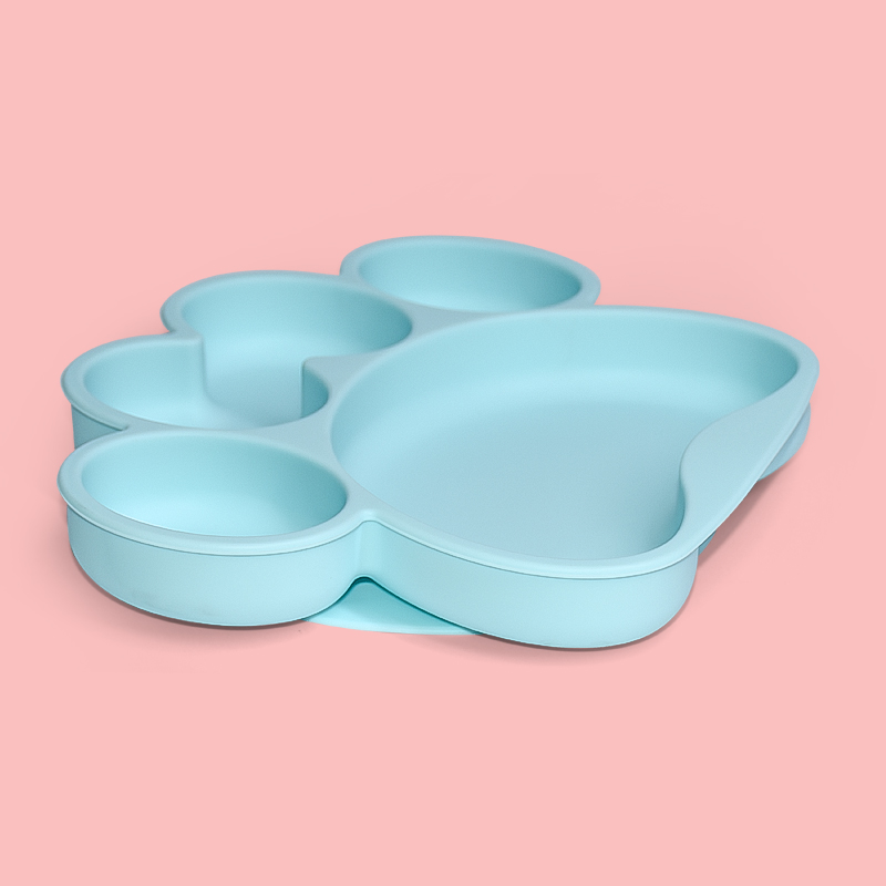 Legenday 2021 Eco Friendly Silicone Baby Spoon Fork Suction Dinner Plate Silicone Baby Feeding Set