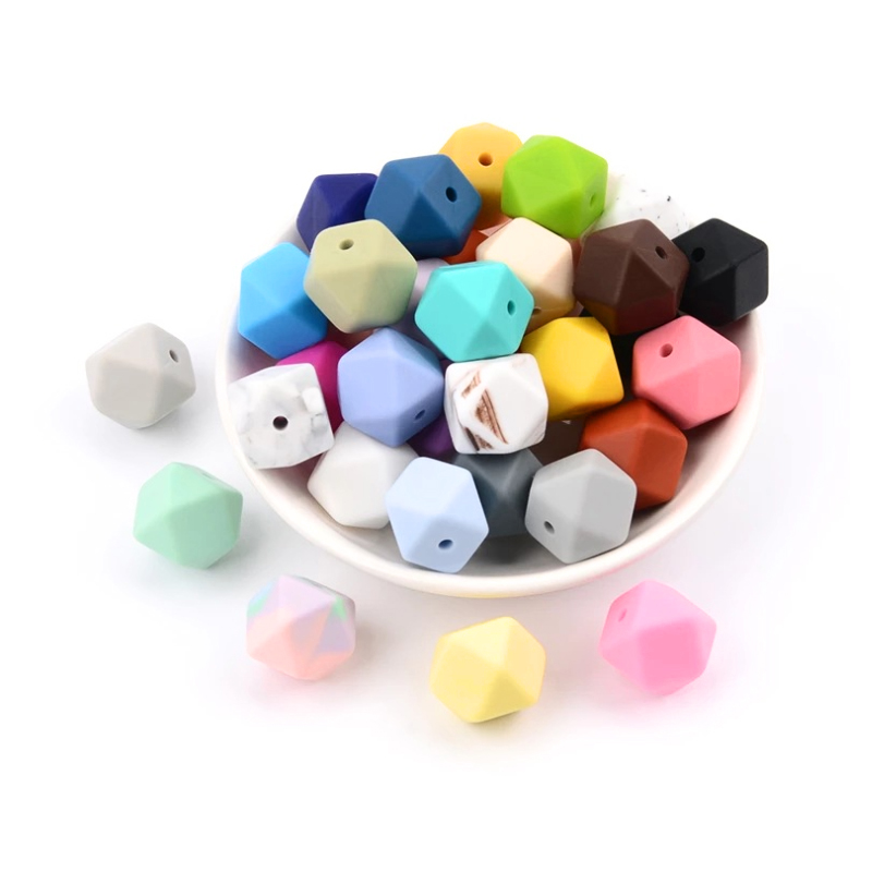 Legenday Wholesale Diy Food Grade Silicone Beads Baby Teething Beads Bpa Free Baby Chewable Teether Beads