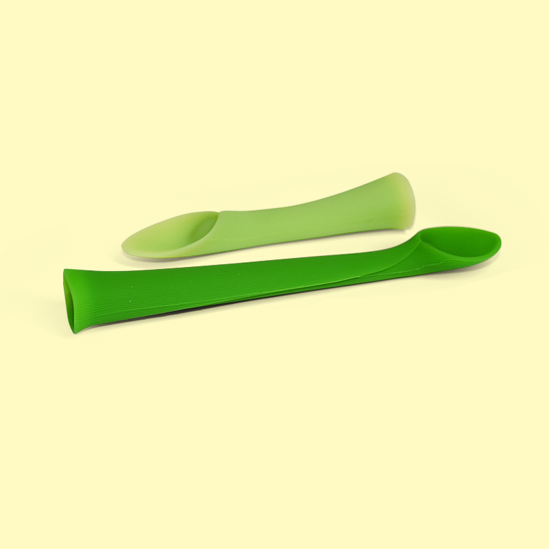 Legenday Wholesale Newborn Soft Baby Training Feeding Rice Cereal Tool Food Grade Silicone Baby Fork And Spoon Set