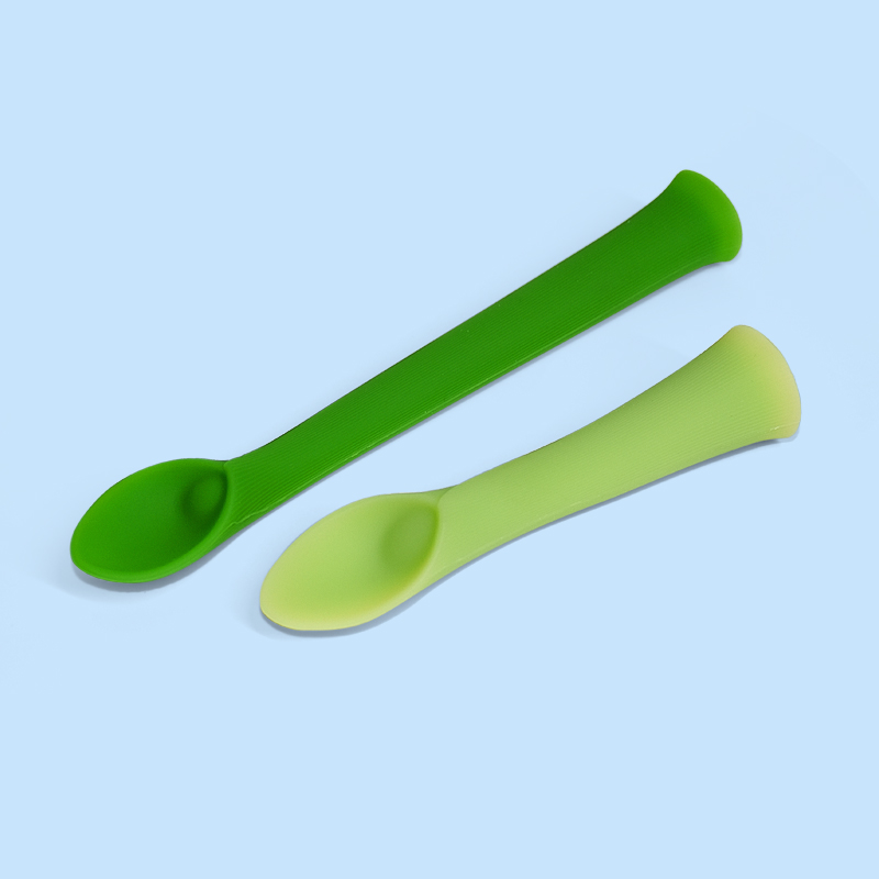 Legenday 100% Food Grade Non-Toxic Soft Food Grade Silicone Baby Feeding Rice Cereal Spoon