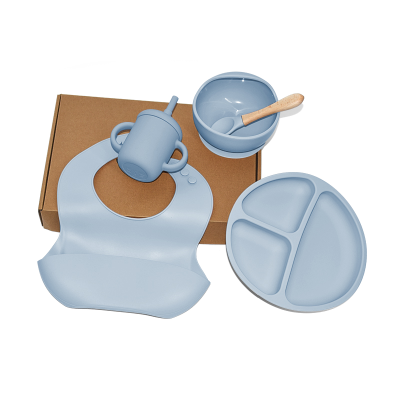 Legenday Bpa Free Silicone Baby Toddler Feeding Supplies Set Food Suction Bowl With Spoon