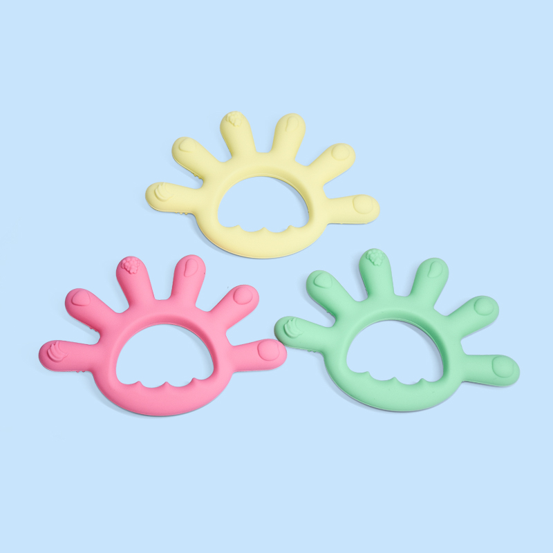 Legenday High Quality Newborn Chewable Teething Toy Silicone Baby Chew Toy Teether Ring