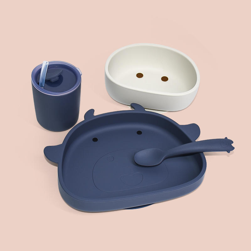 Legenday Eco Friendly Baby Feeding Silicone Placemat Plates Silicon Bib Suction Bowl Spoon Plate Sets