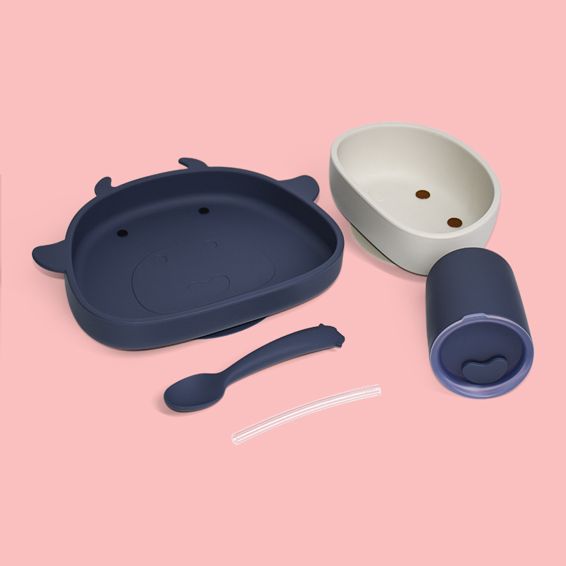 Legenday Amazon Professional Waterproof Safety Suction Silicone Baby Feeding Food Plate Set Spoon Bowl