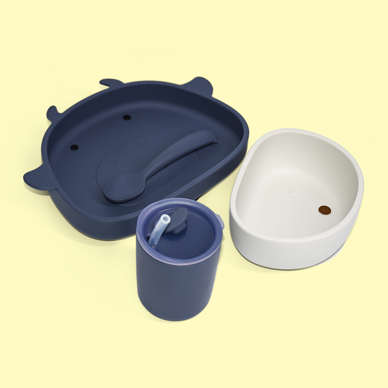 Legenday Baby Silicone Feeding Set Baby Bibs Bowl Dinner Plate Snack Cup Waterproof Bpa Free Silicone Feeding Set