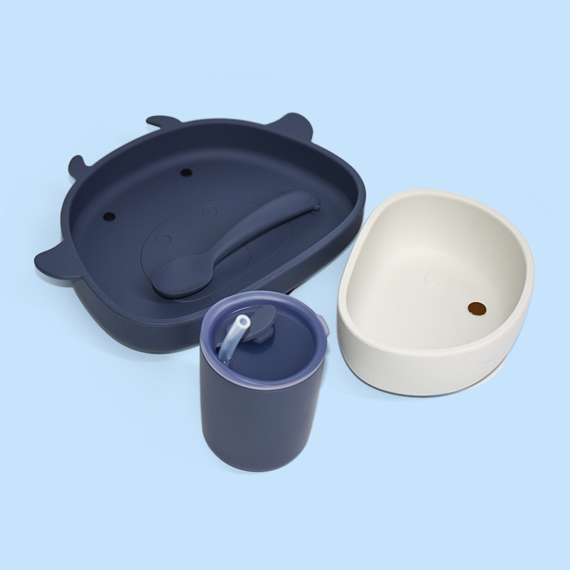 Legenday Food Grade Easily Clean Bpa Free Baby Feeding Set Waterproof Suction Silicone Baby Bowl Plate Set