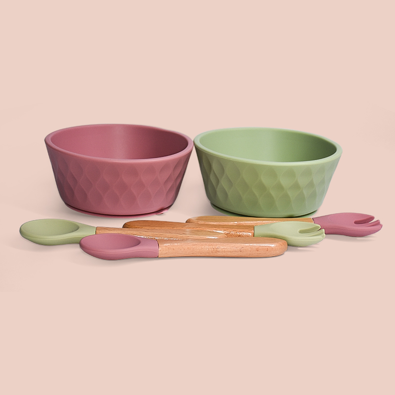 Legenday Soft Suction Food Grade Silicone Baby Bowl And Spoon Bpa Free Full Silicone Feeding Sets