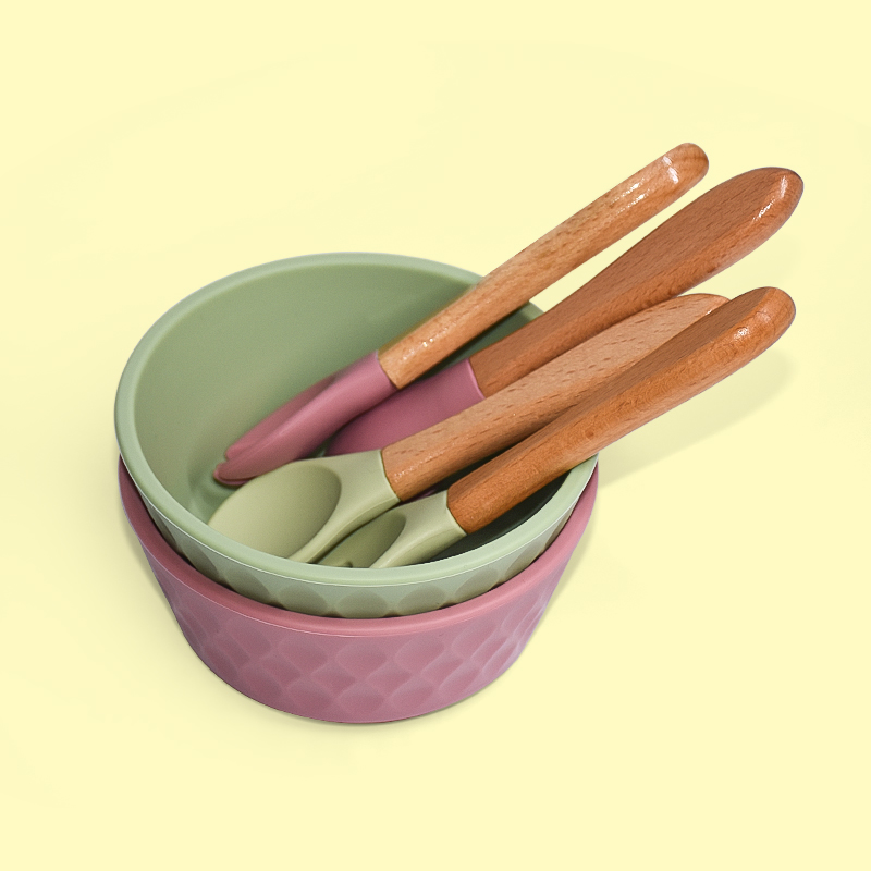 Legenday Eco-Friendly Food Grade Custom Infant Feeding Suction Silicone Baby Bowl And Spoon