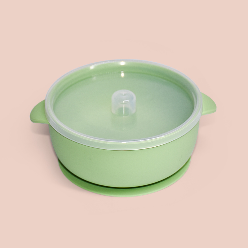 Legenday Feeding Supplies Soft Bpa Free Non Spill Suction Silicone Baby Bowl Food Storage Bowls