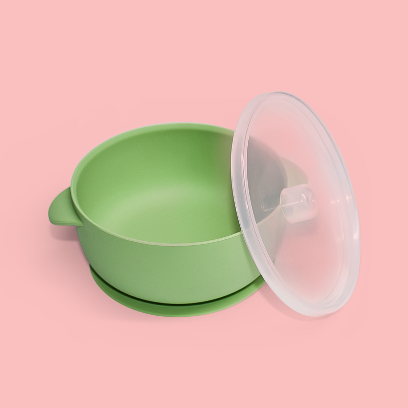 Legenday 2021 Amazon Top Seller Heat -Resistant Silicone Baby Feeding Bowl New Suction Food Storage Reusable Bowl