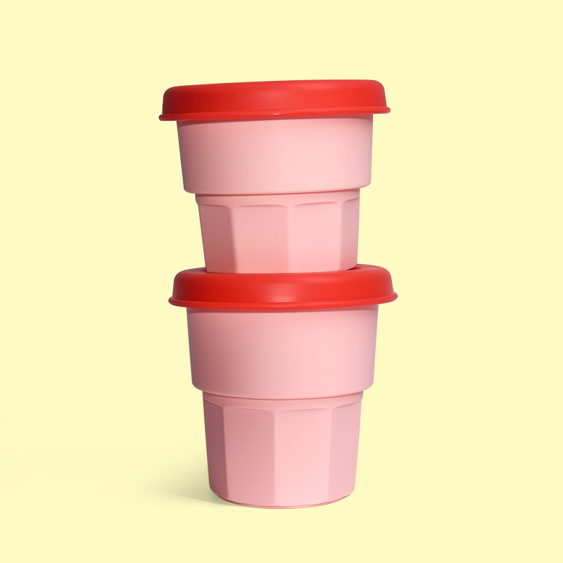 Legenday Custom Bpa Free Non-Toxic Soft Snack Storage Container Spill Proof Cup Baby Silicone Snack Cup